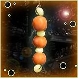 Dekorácie - Oranžový vianočný ,,červík