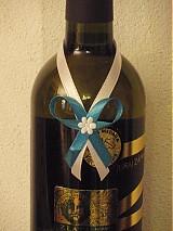 Stuhy na fľaše s mašličkou