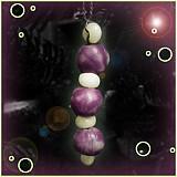 Dekorácie - Fialový vianočný ,,červík