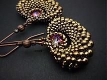 Náušnice - Taštička bronzovo-medená II - 3489785