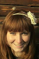 Ozdoby do vlasov - Čelenka - biely kvet - 3492729