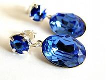 Náušnice - light saphire - na objednavku - 349474