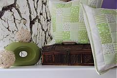 patchwork deka a obliečka zelená