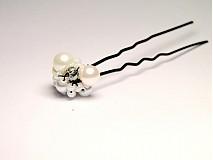 Ozdoby do vlasov - Vlásenka White Pearl - 3508002