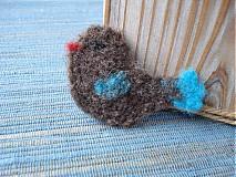 Odznaky/Brošne - Vtáčik letáčik s modrým chvostíkom - 3513902