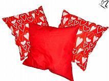 Úžitkový textil - _dekoratívny vankúšik - samé srdiečka 45 x 45 cm II. - 3519804