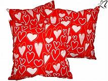 Úžitkový textil - _dekoratívny vankúšik - samé srdiečka 45 x 45 cm III. - 3519817
