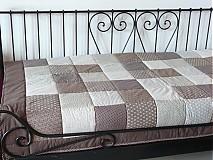 - patchwork deka 140x200 alebo 220x220 a vankúš za super cenu (Prehoz 220x220 cm) - 3524434