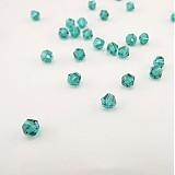 Korálky - Bicone - Emerald /4mm/ 10ks - 3529338