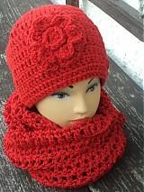Čiapky - set červeno trblietavý...:) - 3530242