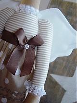 Bábiky - Béžový anjel so srdiečkom - 3530988