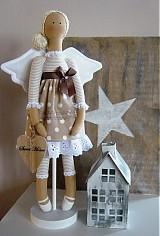 Bábiky - Béžový anjel so srdiečkom - 3530990