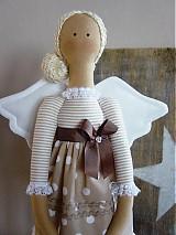 Bábiky - Béžový anjel so srdiečkom - 3530993