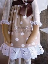 Bábiky - Béžový anjel so srdiečkom - 3530999