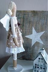 Bábiky - Béžový anjel so srdiečkom - 3531002