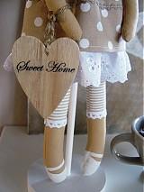 Bábiky - Béžový anjel so srdiečkom - 3531004