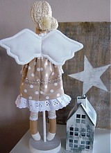 Bábiky - Béžový anjel so srdiečkom - 3531005