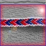 Náramky - Ružovo-modrá šípka (náramok priateľstva) - 3531474