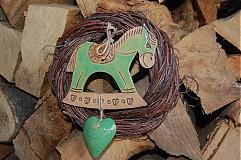 Keramika - Venček s kiwi koníkom - 3534913