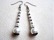 Náušnice - lemované perličky - 3546652