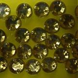Našívacie kamienky kruhové žlté 7mm