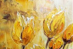 Obrazy - Žlté tulipany - 3555469