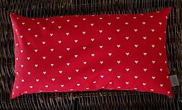 FILKI šupkový vankúš na spanie 45 cm (červený s béžovými srdiečkami)