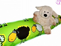 Textil - _HAJA KIDS s bielymi a čiernymi ovečkami 140 cm s atestom pre deti do 3 rokov  ♥ - 3561357