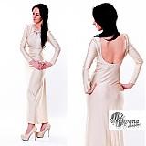 Šaty - Elastické spoločenské šaty dlhý rukáv rôzne farby - 3573433