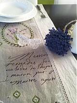 - Ľanová štóla Provence (100 x 40 cm) - 3585136