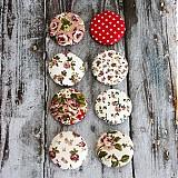 - Vintage buttony v červenej (19 mm) - 3586774
