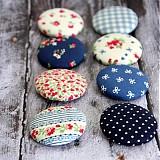 Materiál ručne robený - Vintage buttony v modrej - 3586877