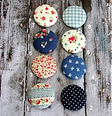Materiál ručne robený - Vintage buttony v modrej - 3586878