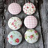 Romantické buttony ružové 38 mm