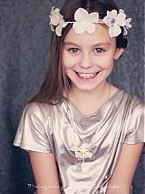Ozdoby do vlasov - romantický svatební věneček se třpytkami - 3589734