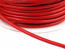 - Syntetická koža červená - 1 m - 3592365
