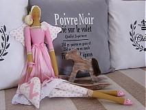 Bábiky - V prúžkovanej sukni so srdiečkom - 3592688