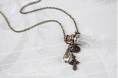 Náhrdelníky - talisman - minilahvička na řetízku - 3592792