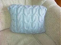 Pletený vankúš - šedý