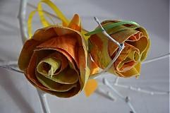 Dekorácie - Zapichovačka kvet ruža - 3599507