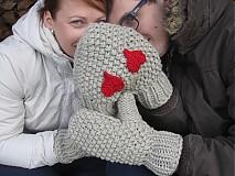 Rukavice - zamilované rukavičky - bledohnedé - 3601397