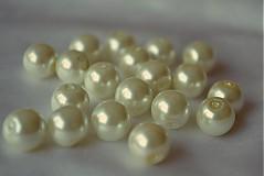 Korálky - Perly sklenené maslové, 10mm, 0.55€/10ks - 3605042