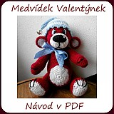 Kurzy - Návod na medvídka Valentýnka - 3613291