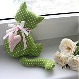 Dekorácie - Mačička so srdiečkom a rolničkou  - 361973