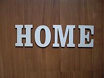 Materiál ručne robený - Drevené písmenká  HOME, LOVE - 3621611