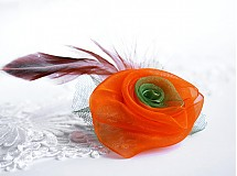 Odznaky/Brošne - Ružička orange - 3623200