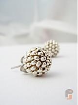 Darčeky pre svadobčanov - 5ks EARBERRIES Silver pre družičky! - 3623919