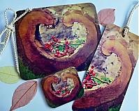 Papiernictvo - sada Ze srdce - pohlednice, záložka, magnetka - 3635072