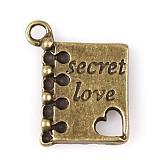 Prívesok s nápisom Secret love