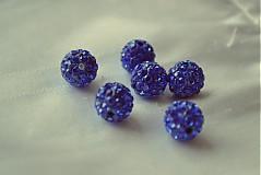 shamballa korálky CZ kryštál kráľovská modrá, 10mm, 0.25€/ks